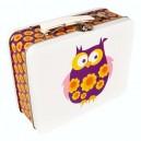 Blafre Lunchbox mit Retro Eule