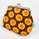 Blafre Portemonaie orange Blumen